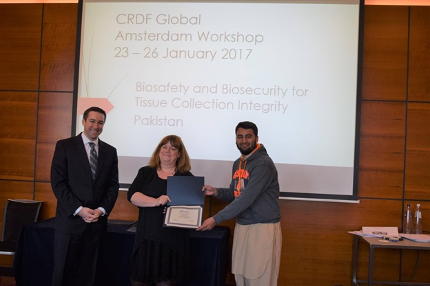 """Attended International Workshop on """"Biosafety and Biosecurity in Tissue Culture Collection"""" instructed by Dr. Judi Sture CRDF Global at Amsterdam, Netherlands, 2017"""