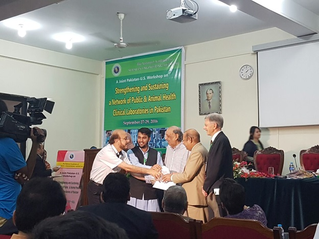 """Organized International Joint Pakistan-US Workshop on """"Strengthening and Sustaining a Network of Public and Animal Health Clinical Laboratories in Pakistan"""" at Pakistan Academy of Sciences (PAS), Islamabad, 2016"""
